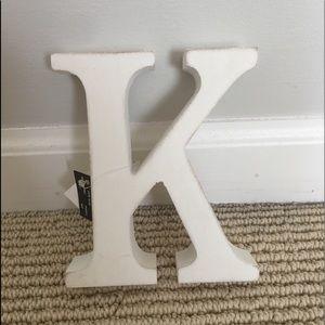 letter K decor